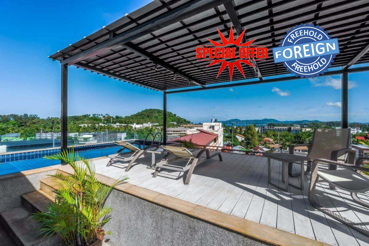 3 Bedroom Foreign Freehold Sea View Condo for Sale near Surin Beach, Phuket