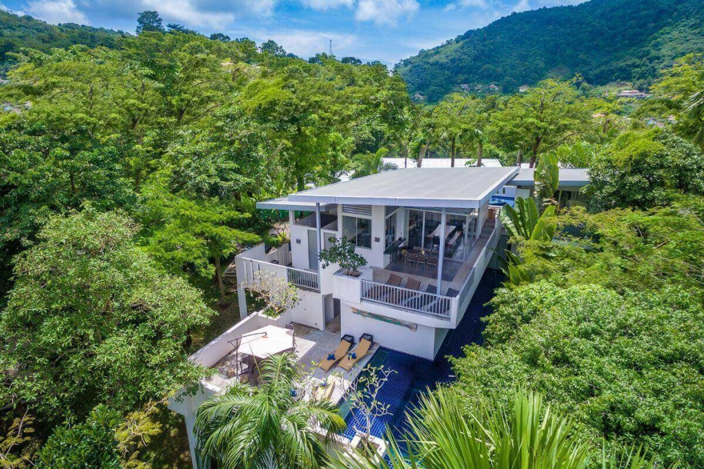6 Bedroom Hilltop Pool Villa for Sale at The Coolwater Villas near Kamala Beach, Phuket