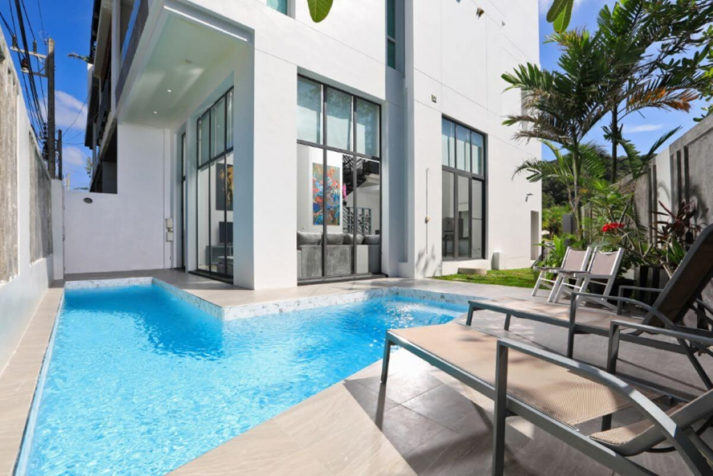 3 Bedroom Sea View Townhouse Pool Villa for Sale 50 Metres to Kata Noi Beach, Phuket