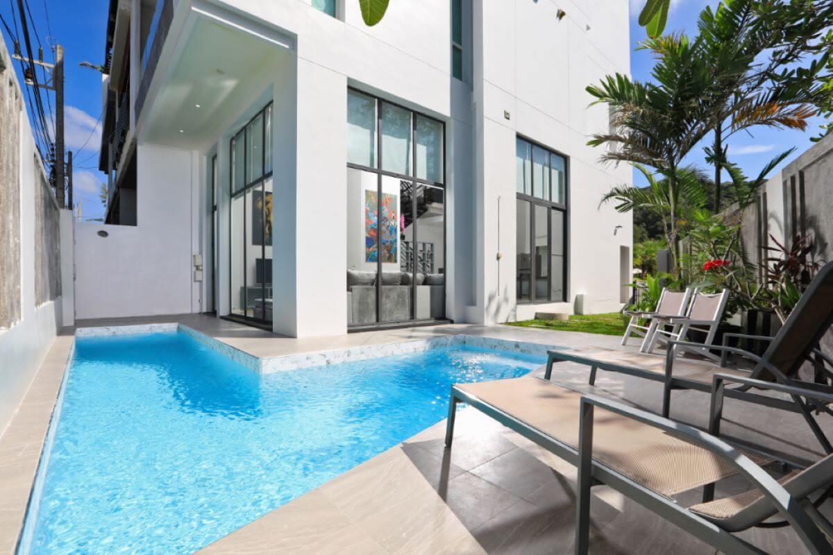 3 Bedroom Sea View Townhouse Pool Villa for Sale 50 Metres to Kata Noi Beach, Phuket