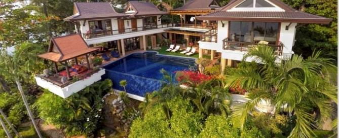4 Bedroom Oceanfront Luxury Pool Villa for Sale at Baan Kata Villa near Kata Beach Phuket
