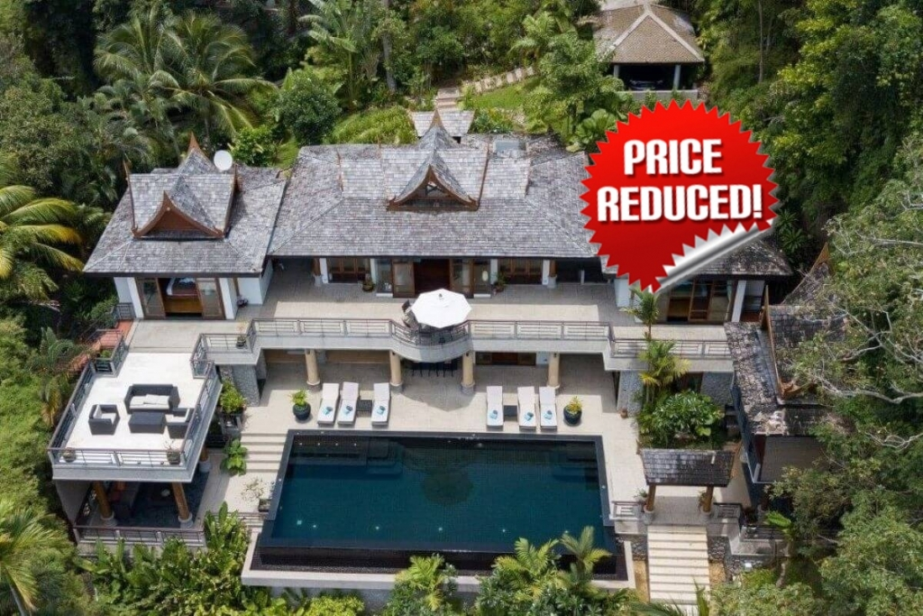 5 Bedroom Sea View Pool Villa with Large Plot of 2,180 sqm for Sale at Ayara Surin near Surin Beach Phuket
