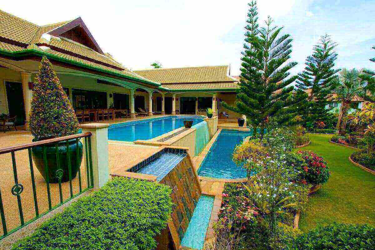 6 Bedroom Panoramic Mountain View Pool Villa with 2 Swimming Pools for Sale near Nai Harn Beach, Phuket