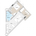 1 Bedroom Foreign Freehold Resort Condo for Sale in Laguna Phuket floorplan