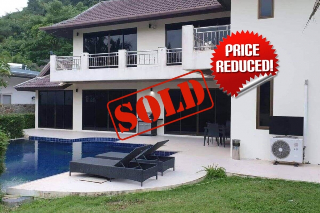 4+1 Bedroom Pool Villa for Sale near Loch Palm & British International School in Kathu, Phuket