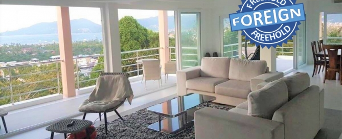 3 Bedroom Foreign Freehold Sea View Penthouse Condo for Sale by Owner at Diamond Condominium near Patong Beach, Phuket