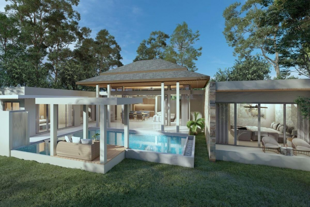 3 + 1 Bedroom Modern Pool Villa for Sale in Nai Yang, Phuket