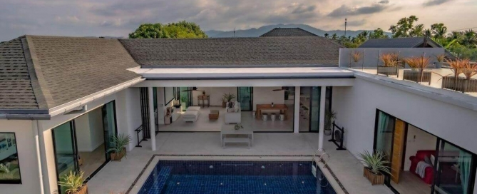 4 Bedroom Modern Pool Villa with Roof Deck for Sale in Thalang, Phuket