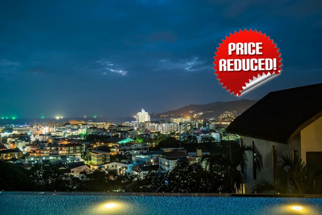 4 Bedroom Sea View Mountainside Pool Villa for Sale by the Owner in Patong, Phuket