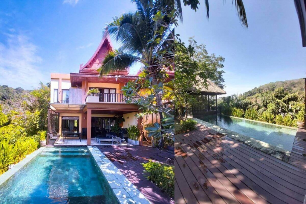 5 Bedroom Mountainside Pool Villa for sale at Nakathani near Nakalay Beach in Kamala, Phuket