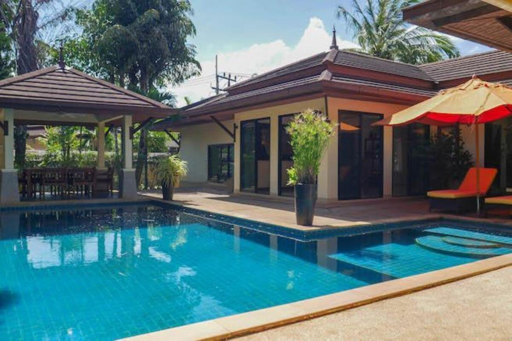 3 Bedroom Balinese Style Pool Villa for Sale near Phuket Fantasea & Kamala Beach in Phuket
