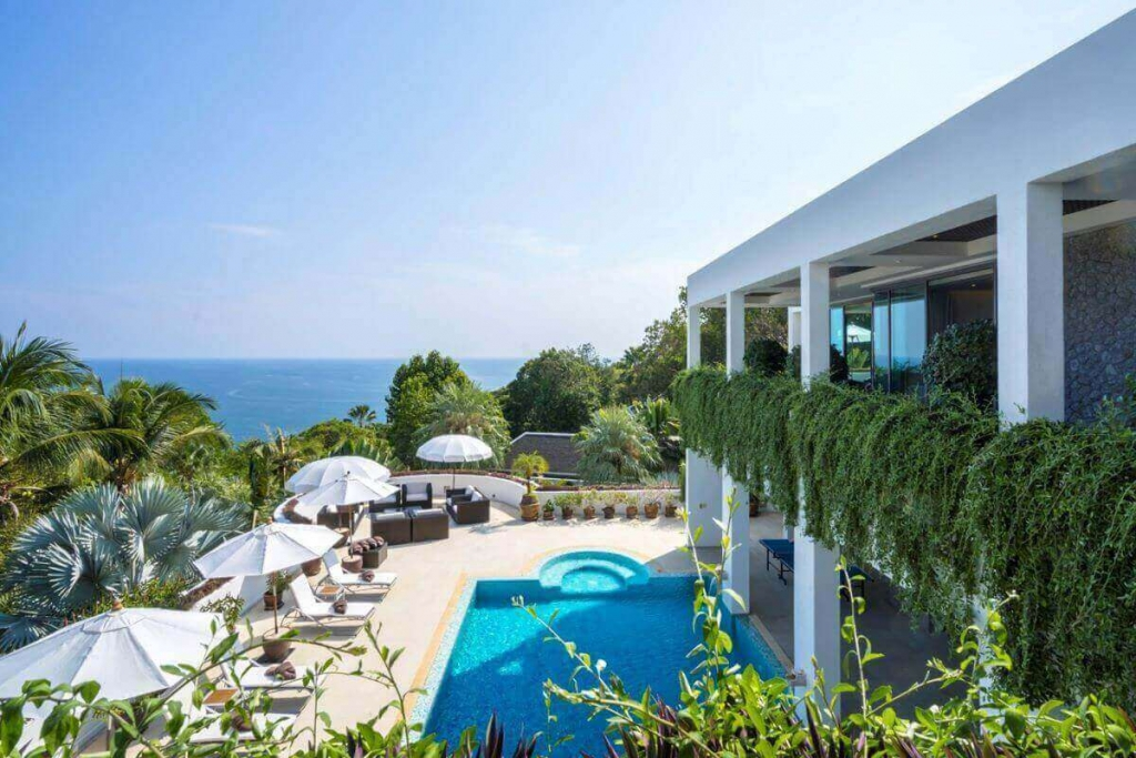 6 Bedroom Luxury Sea View Pool Villa for Sale on Millionaires Mile, Kamala Headland, Phuket