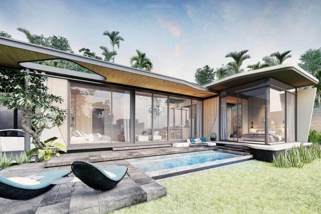 3 Bedroom Modern Pool Villa for Sale near Nai Thon Beach, Phuket