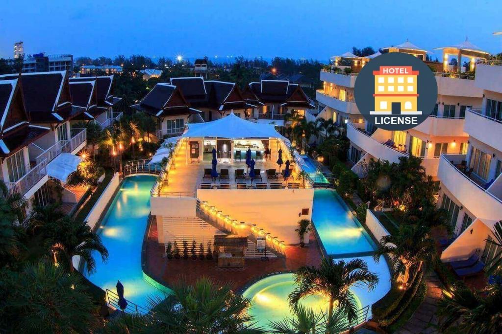 82 Room 4 Star Family Apartment Resort with Hotel License for Sale near Karon Beach, Phuket