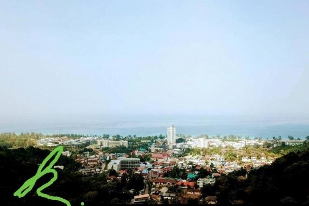 3,532 sqm or 2 Rai 83 sqw Sea View Land for Sale on Karon Hill near Karon Beach, Phuket