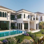 3 Bedroom Modern Classical Style Pool Villa for Sale near Laguna in Cherng Talay, Phuket