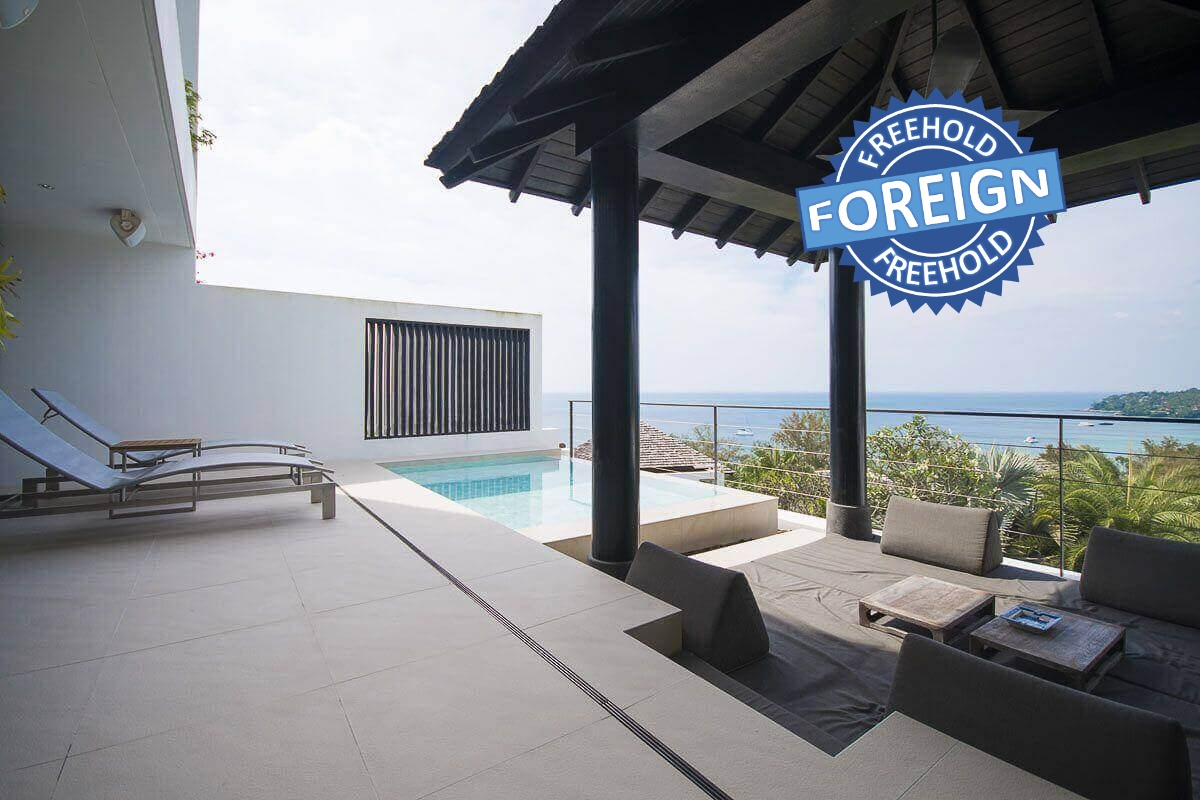 3 Bedroom Sea View Foreign Freehold Condo with Plunge Pool at Surin Heights near Surin Beach, Phuket