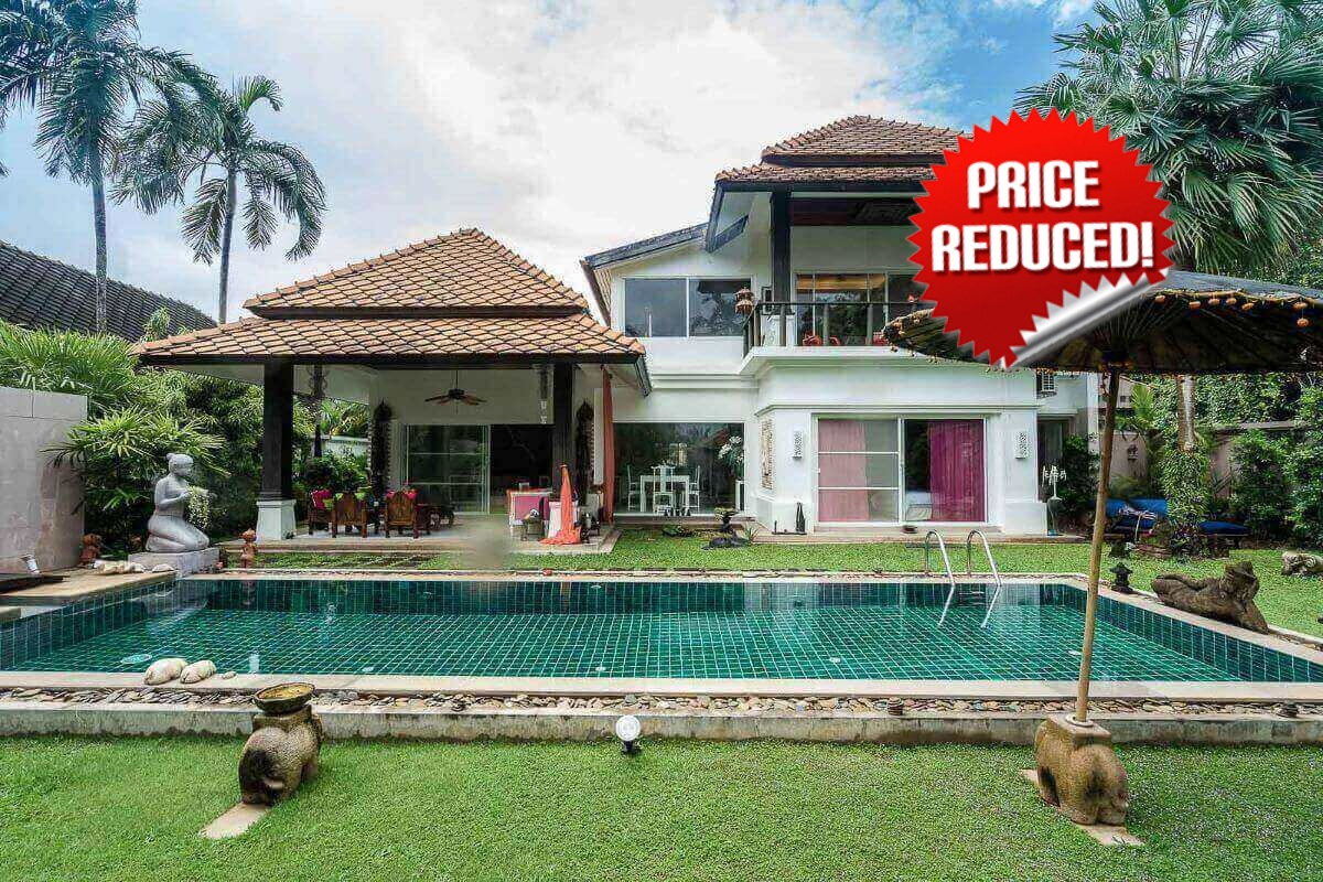 4 Bedroom Beautiful Pool Villa on a Large Plot of 750 sqm for Sale in Rawai, Phuket