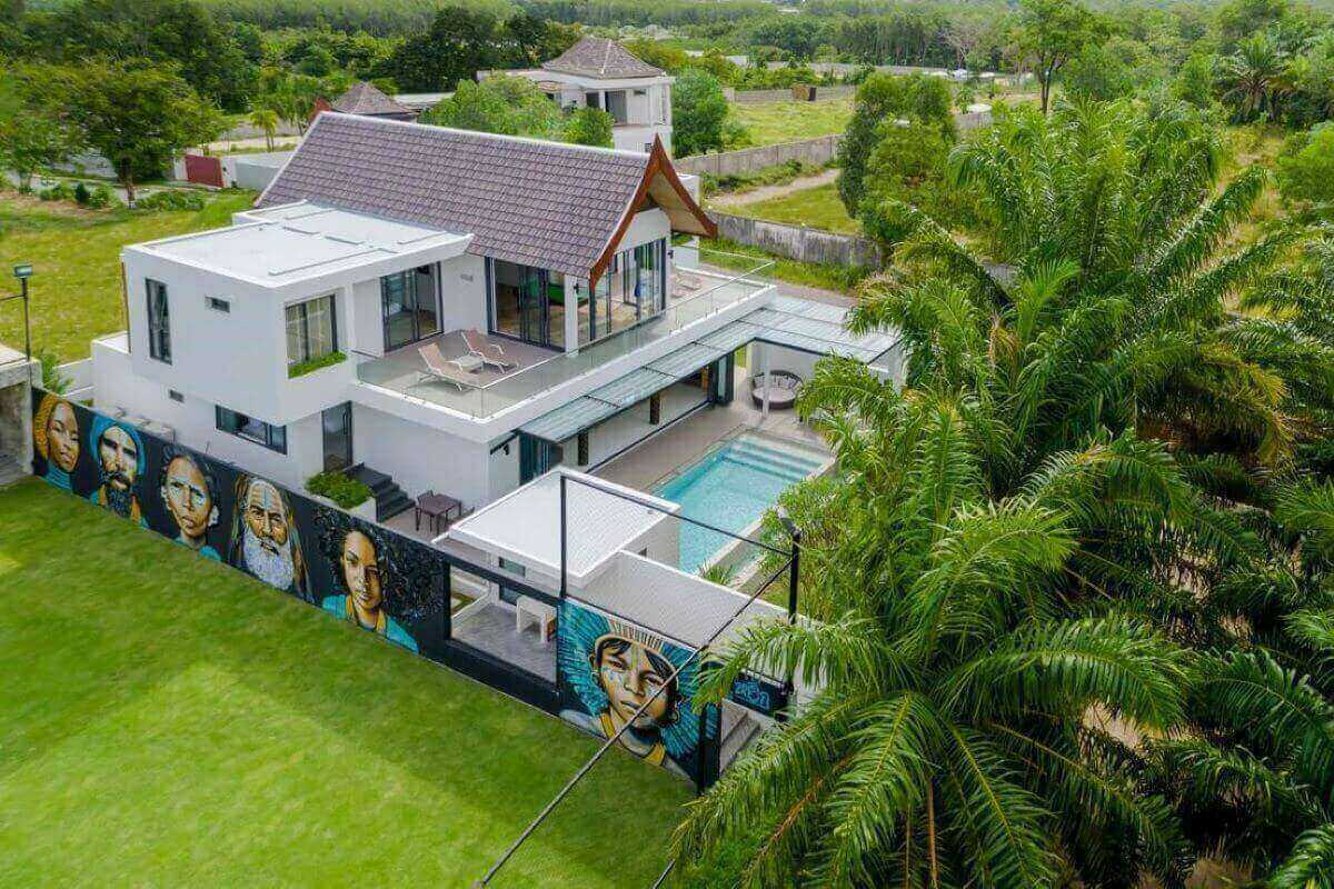 5 Bedroom Pool Villa with Private FIFA Certified Half Football Pitch for Sale near Boat Avenue, Phuket