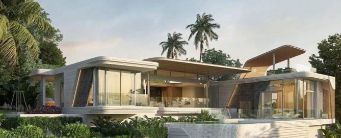 4 Bedroom Luxury Modern Balinese Pool Villa for Sale near Dream Beach Club in Cherng Talay, Phuket