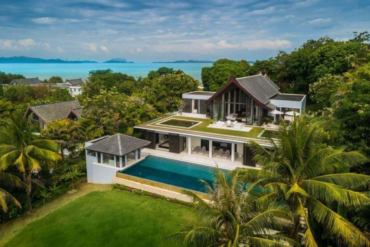 5 Bedroom Sea View Luxury Pool Villa with Ocean Access for Sale at Cape Yamu, Phuket