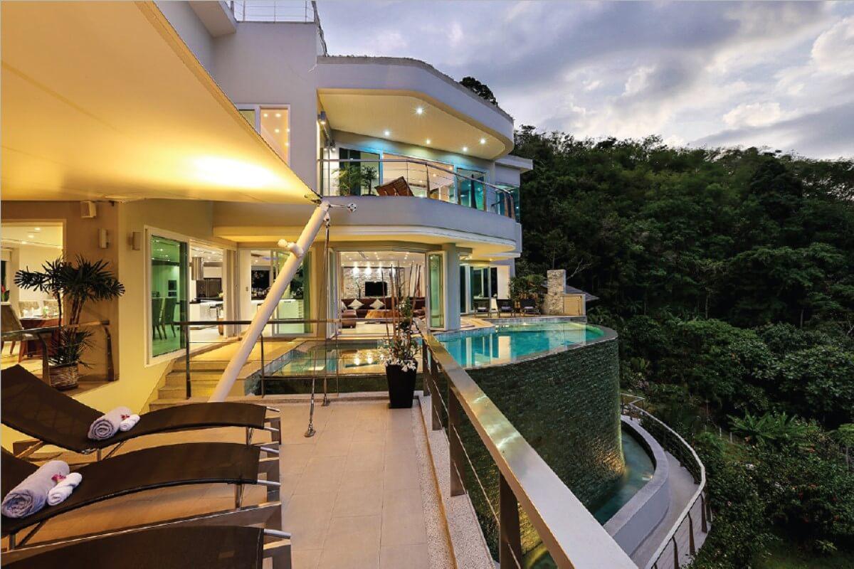 6 Bedroom Sea View Luxury Hilltop Pool Villa for Sale near Surin Beach in Bang Tao, Phuket