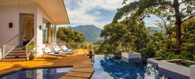 3 + 1 Bedroom Hilltop Tropical Pool Villa for Sale by Owner at The Coolwater near Kamala Beach, Phuket